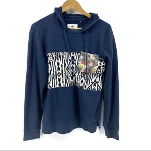 On The Byas Mixed Print Hoodie Aztec Floral Small